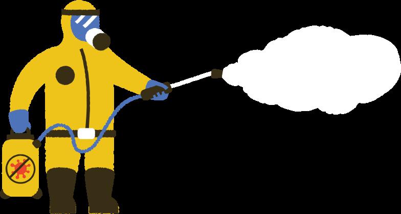Imágenes vectoriales hombre en traje de protección desinfectante en PNG y SVG estilo  | Ilustraciones Icons8