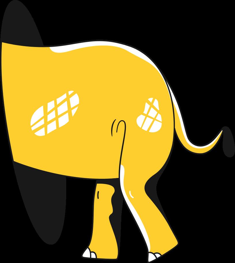 Elefantenkolben Clipart-Grafik als PNG, SVG