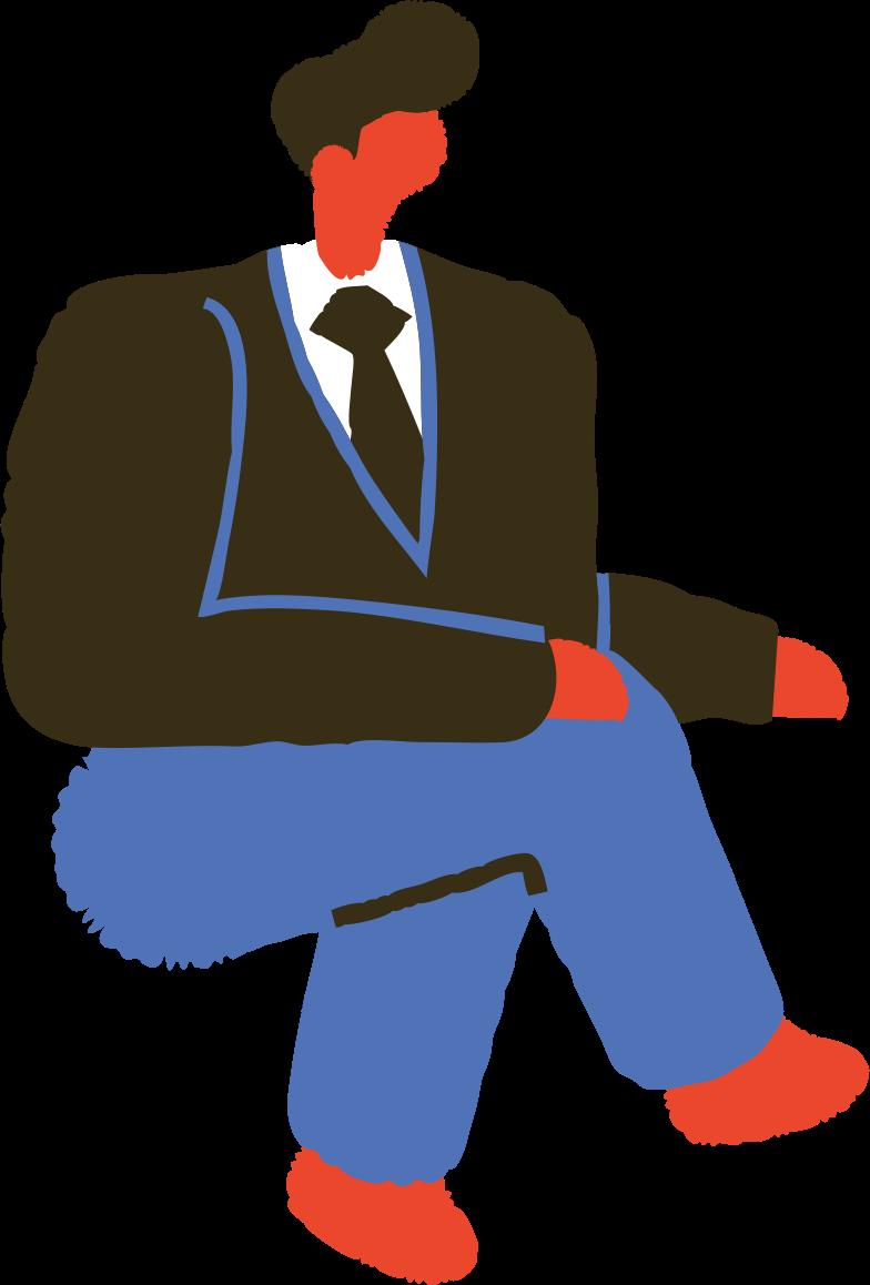 sitting man Clipart-Grafik als PNG, SVG