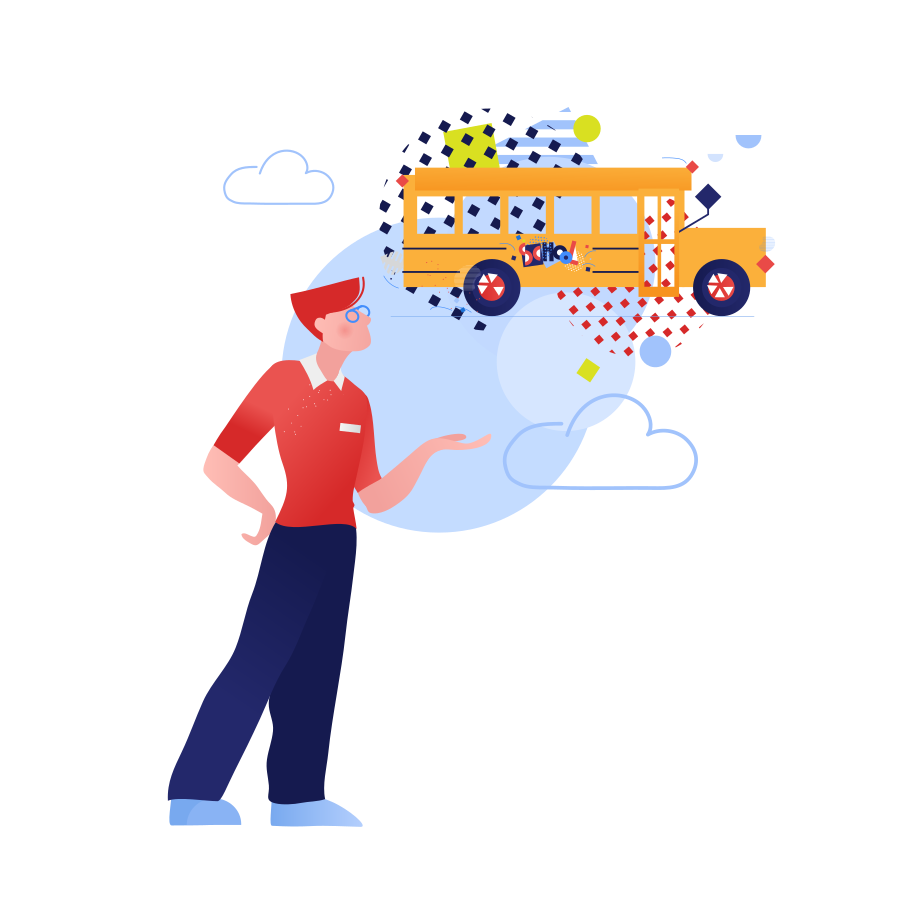 School bus driver Clipart illustration in PNG, SVG