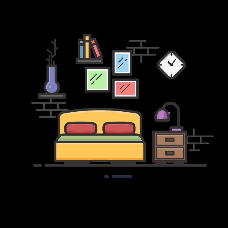 Bedroom Clipart illustration in PNG, SVG