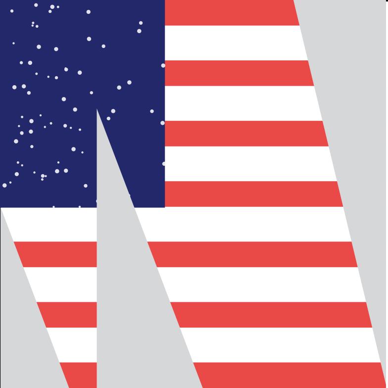 Клипарт Американский флаг в PNG и SVG