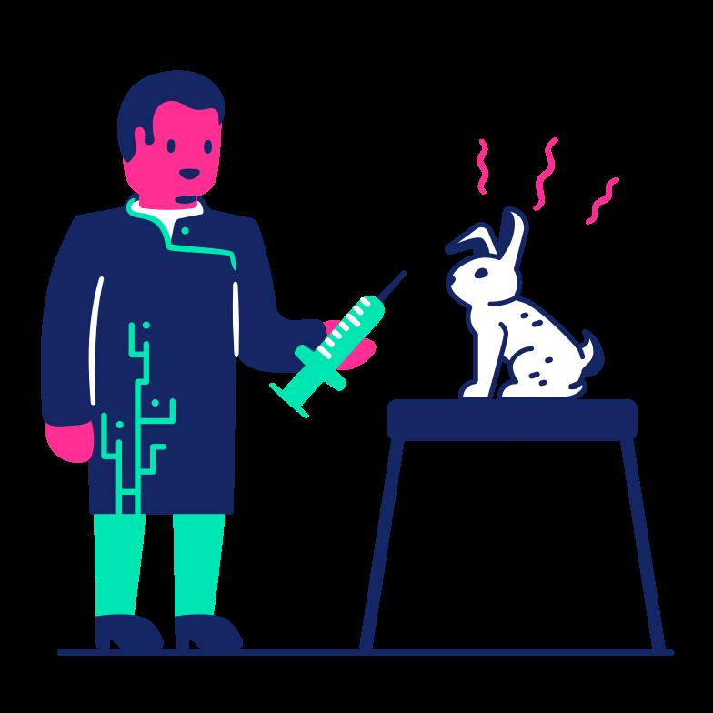 At the vet Clipart illustration in PNG, SVG