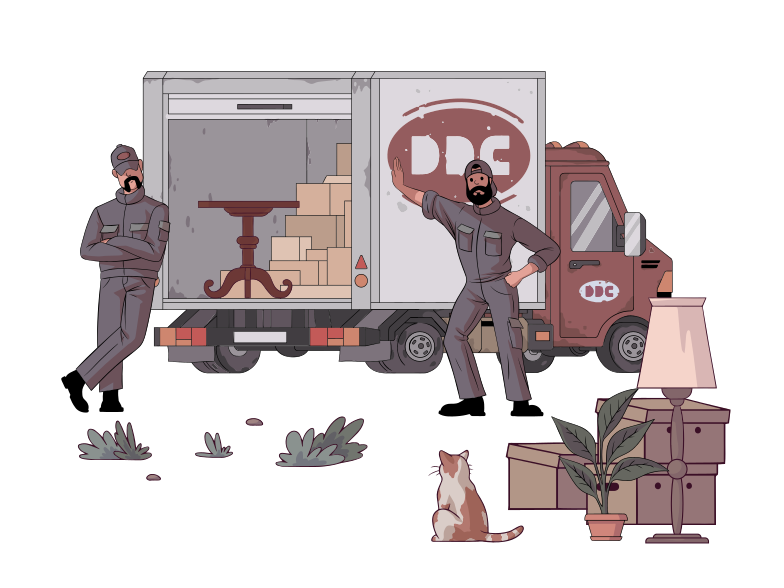 Moving, transportation of things Clipart illustration in PNG, SVG