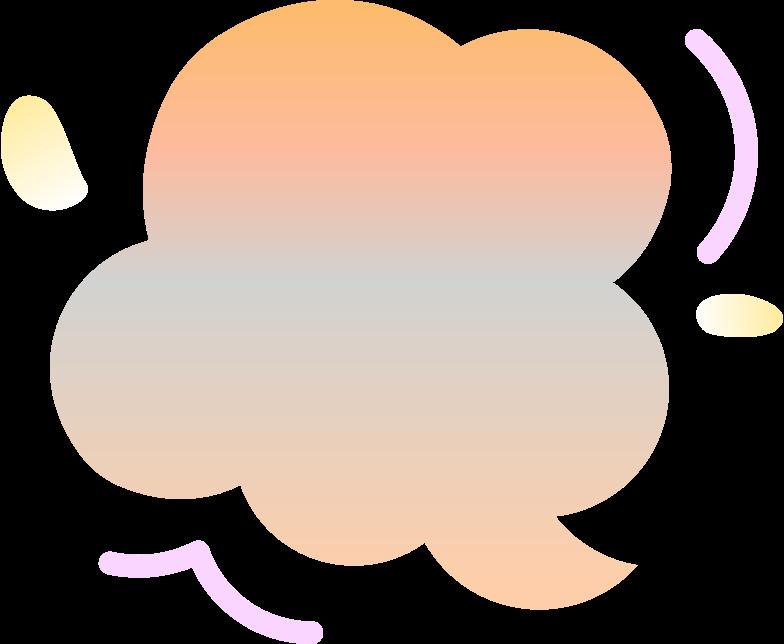 Ilustración de clipart de gradient blops en PNG, SVG