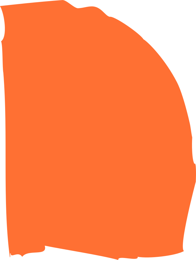 orange half round Clipart illustration in PNG, SVG
