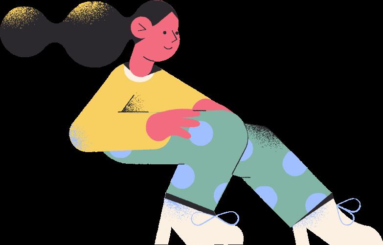 Ilustración de clipart de girl sitting en PNG, SVG