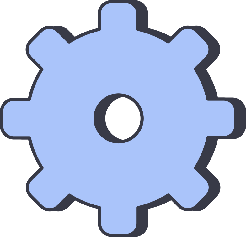 cog Clipart illustration in PNG, SVG