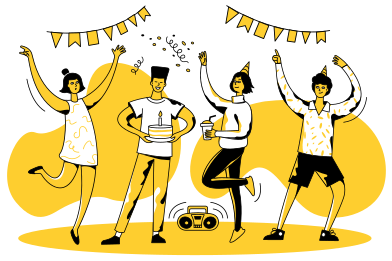 style Teen party images in PNG and SVG | Icons8 Illustrations