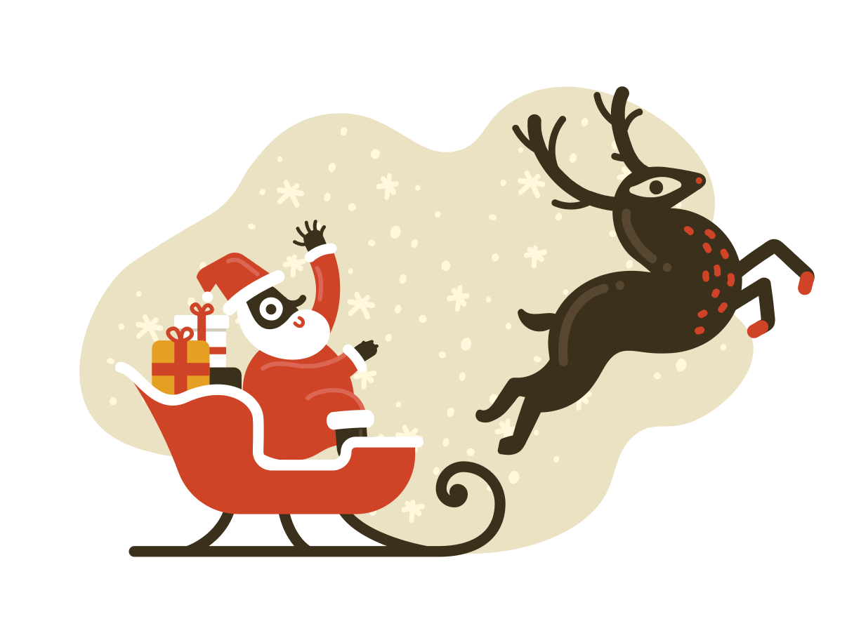Santa is coming Clipart illustration in PNG, SVG