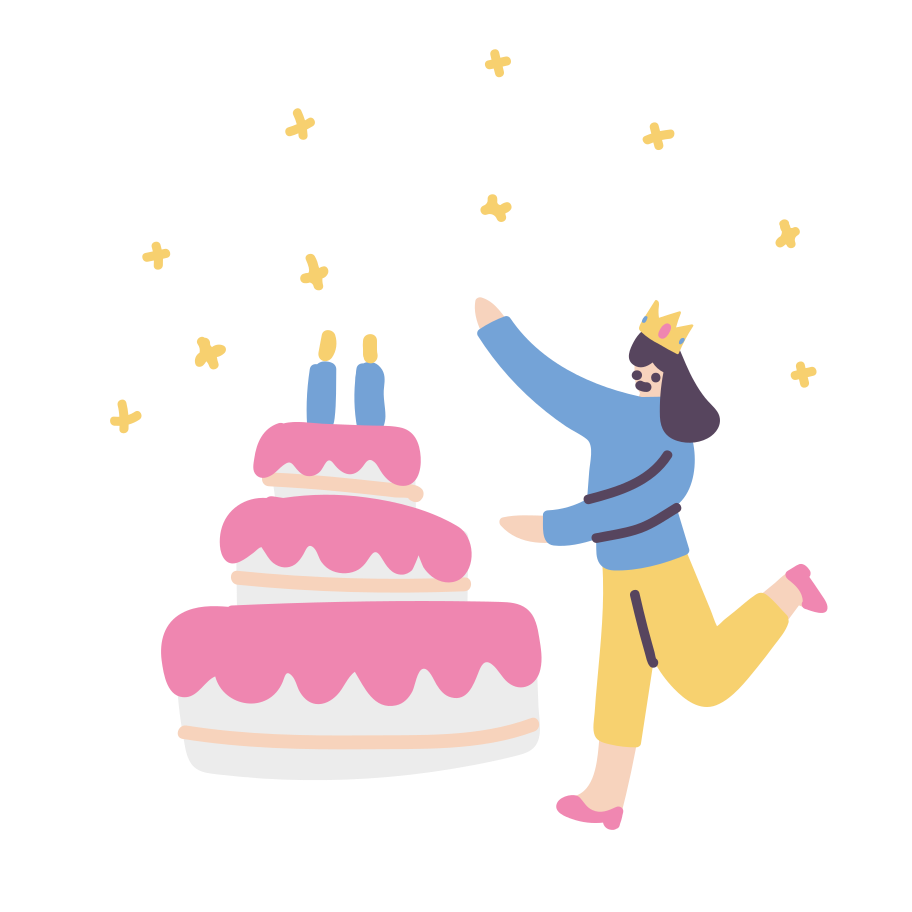 Happy birthday Clipart illustration in PNG, SVG