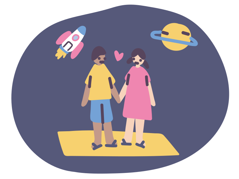 Cosmic love Clipart illustration in PNG, SVG