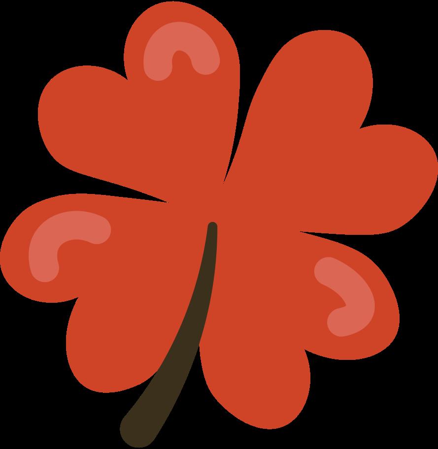 four leaf clover Clipart illustration in PNG, SVG