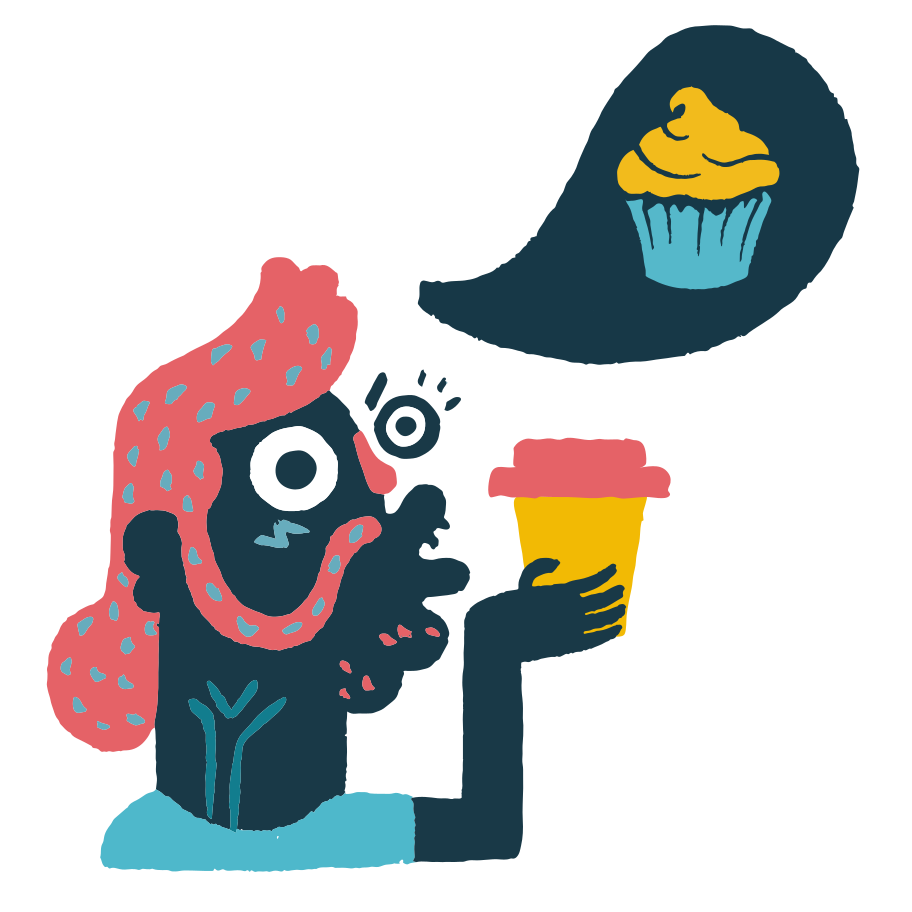 Dream of a cake Clipart illustration in PNG, SVG