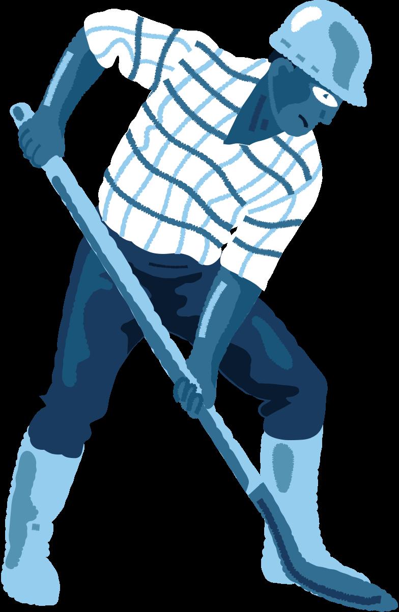 Homem-com-uma-pá Clipart illustration in PNG, SVG