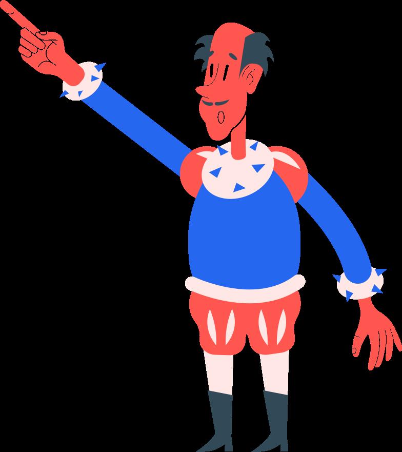 man shows Clipart illustration in PNG, SVG