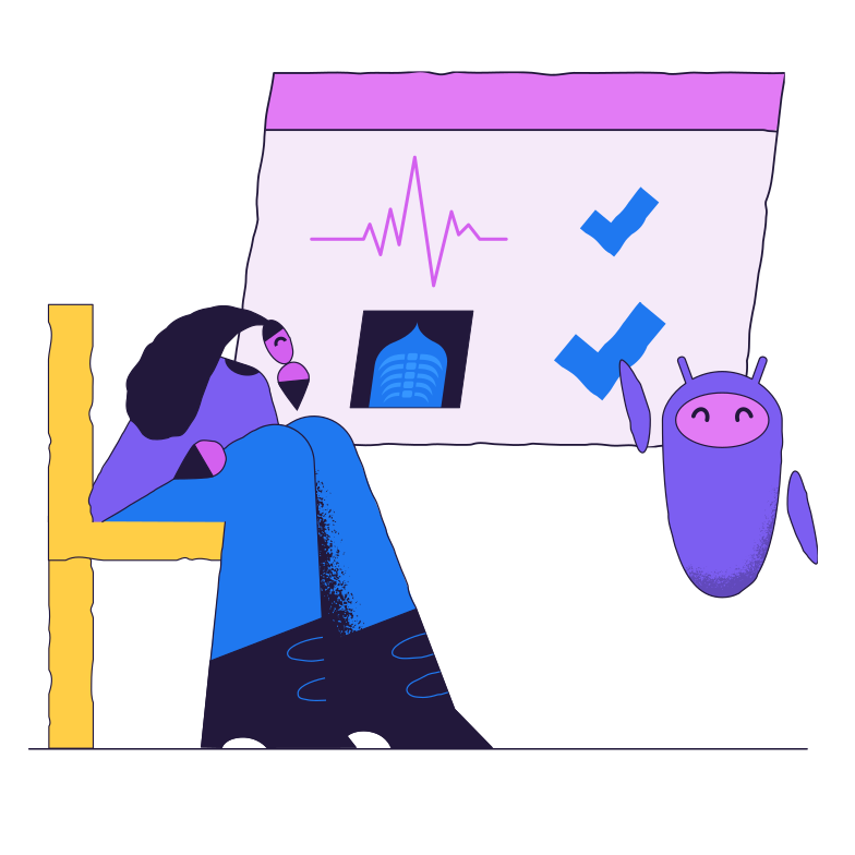 IoT in healthcare Clipart illustration in PNG, SVG