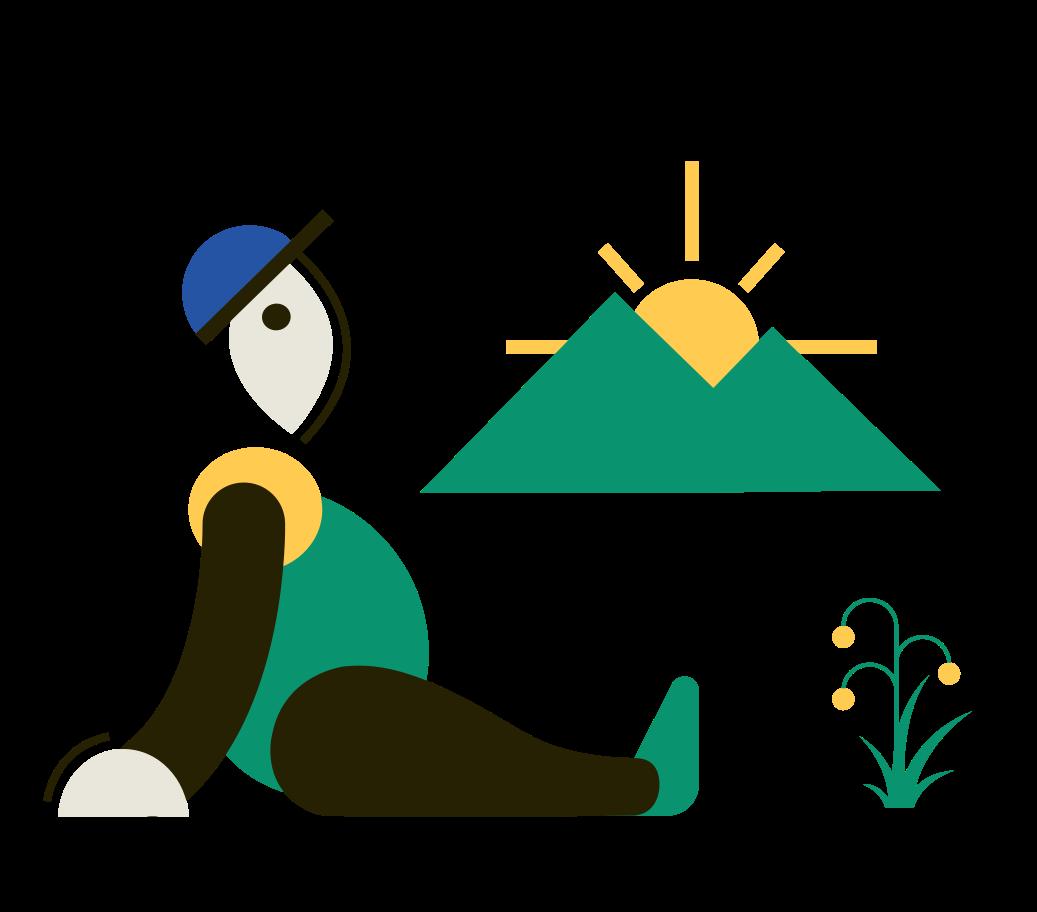 Sunset Clipart illustration in PNG, SVG