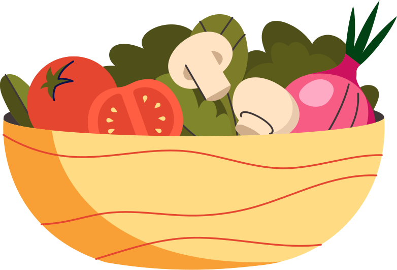 plate with vegetables Clipart illustration in PNG, SVG
