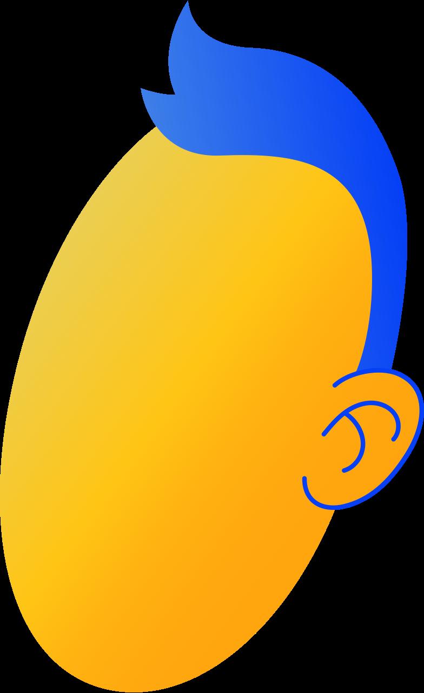 Ilustración de clipart de head en PNG, SVG