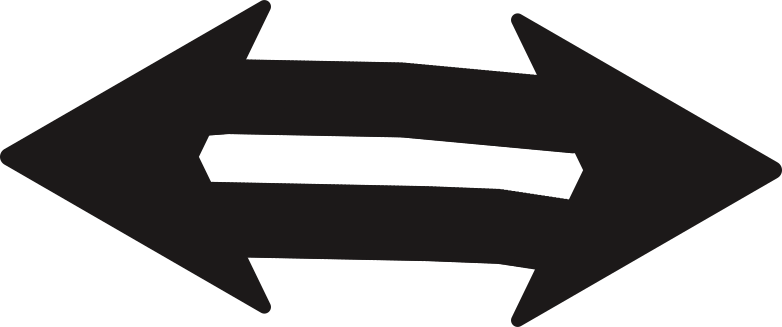 black arrow viceversa Clipart illustration in PNG, SVG