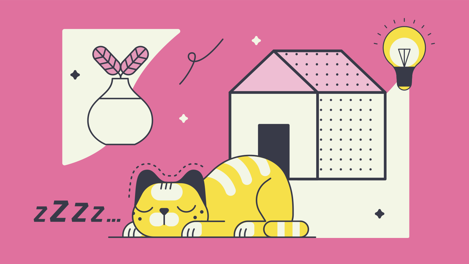 Home sweet home Clipart illustration in PNG, SVG