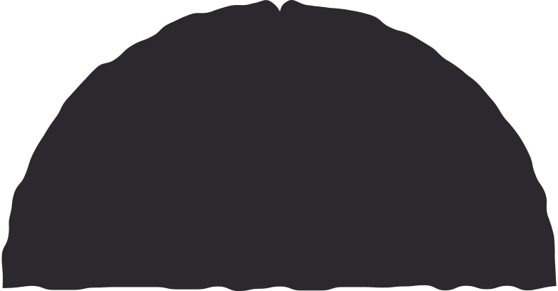 semicircle black Clipart illustration in PNG, SVG