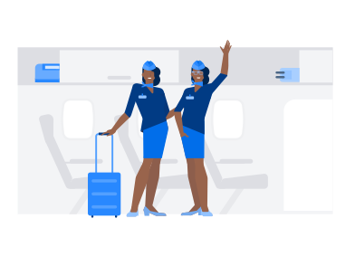 style Flight attendants images in PNG and SVG | Icons8 Illustrations
