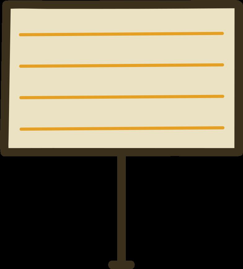 information board Clipart illustration in PNG, SVG