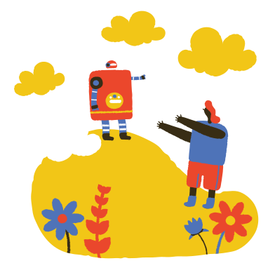 style Love affair with robot images in PNG and SVG | Icons8 Illustrations