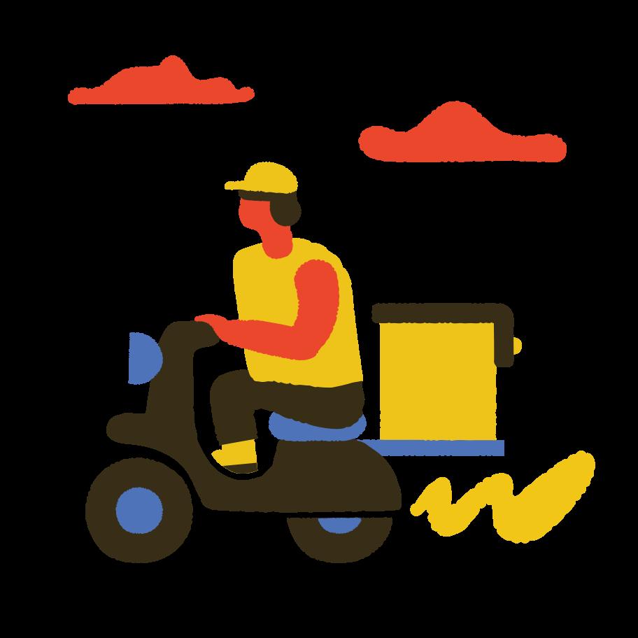 Motorbike Clipart illustration in PNG, SVG