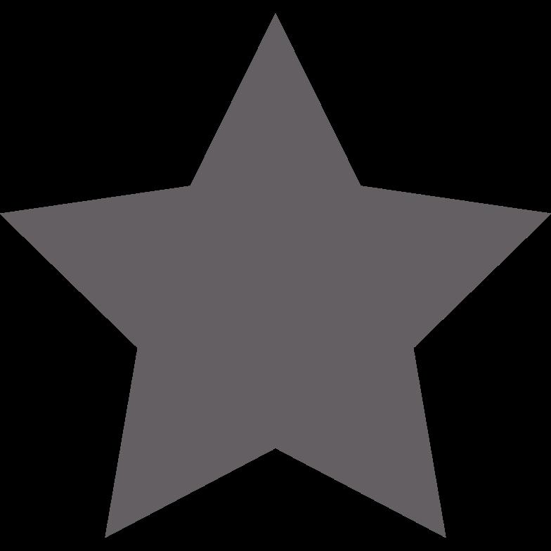 star grey Clipart illustration in PNG, SVG