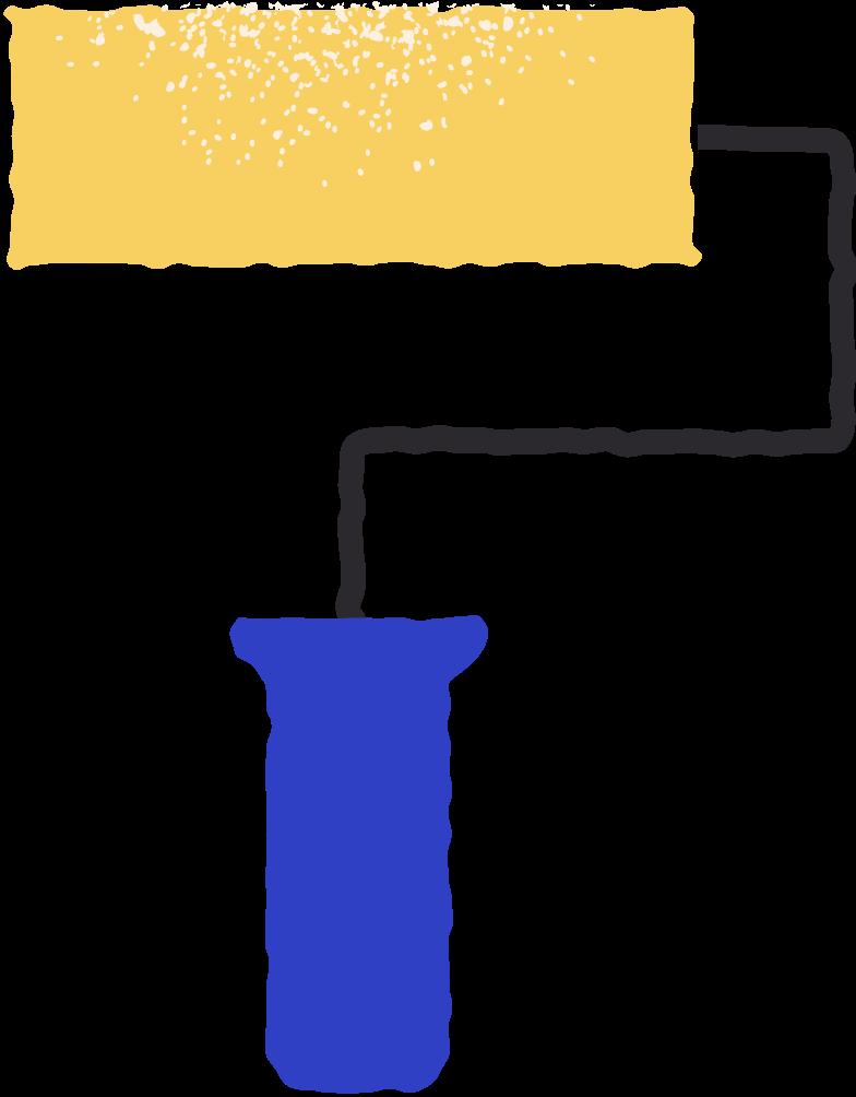 paint roller Clipart illustration in PNG, SVG