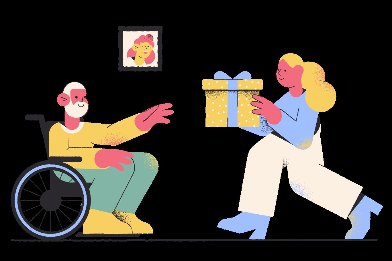 Visiting grandparents Clipart illustration in PNG, SVG