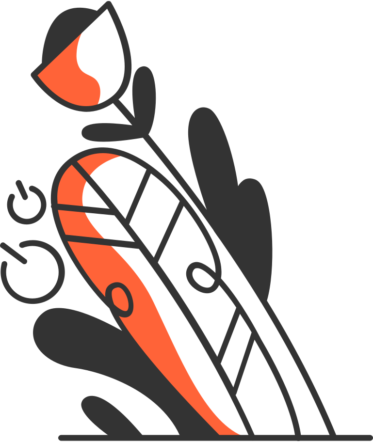 Composição de plantas Clipart illustration in PNG, SVG