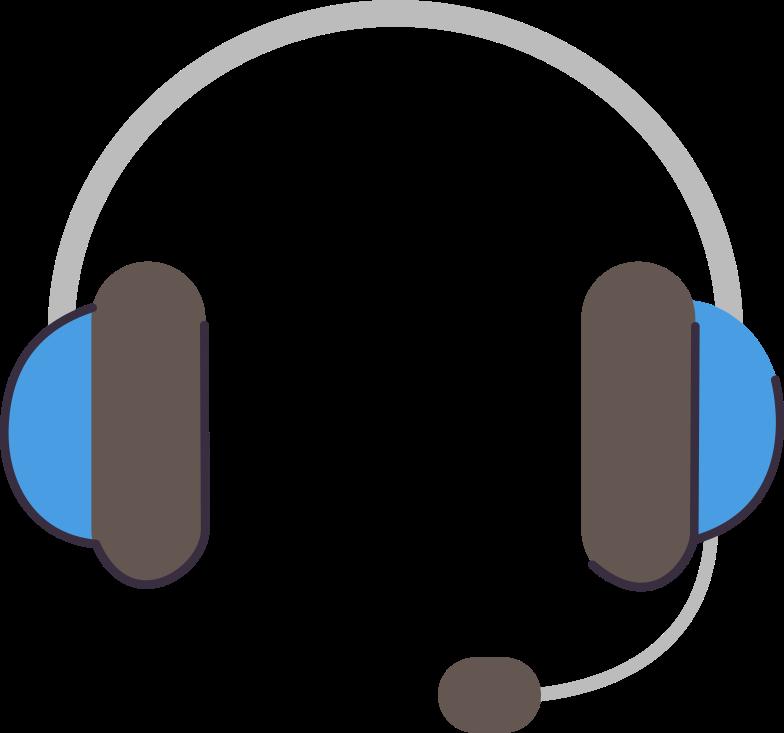 support-headphones Clipart illustration in PNG, SVG