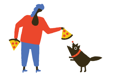 style Dogs like pizza too images in PNG and SVG | Icons8 Illustrations