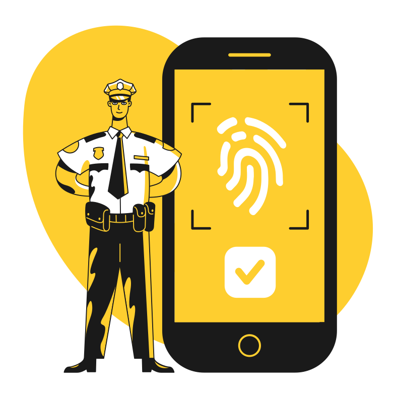 style Fingerprint verification Vector images in PNG and SVG | Icons8 Illustrations