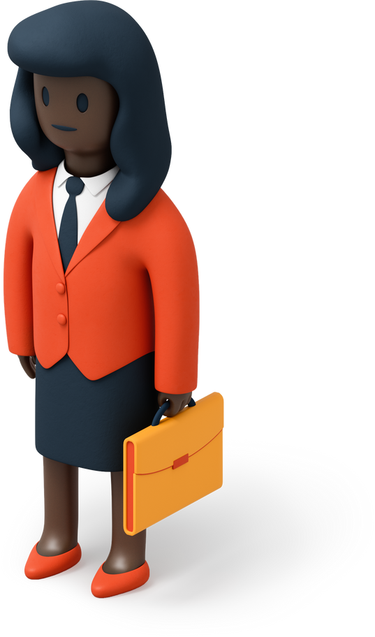 Businesswoman with briefcase Clipart illustration in PNG, SVG