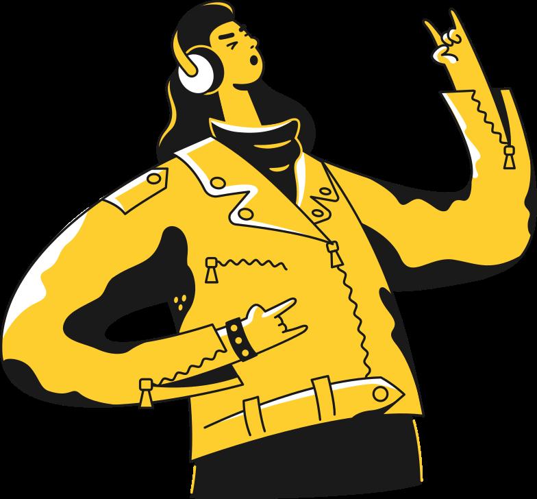 man-in-headphones man Clipart illustration in PNG, SVG