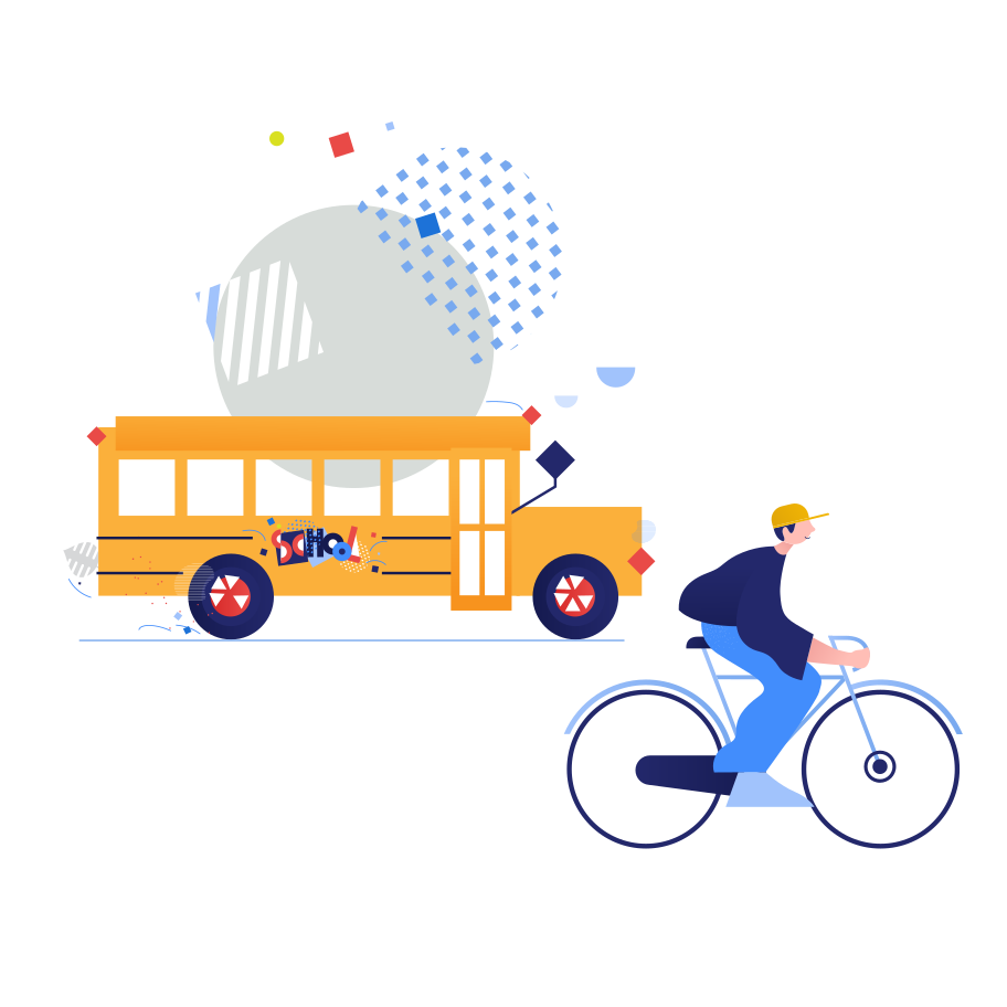 style Public transport or bicycle?  Vector images in PNG and SVG   Icons8 Illustrations