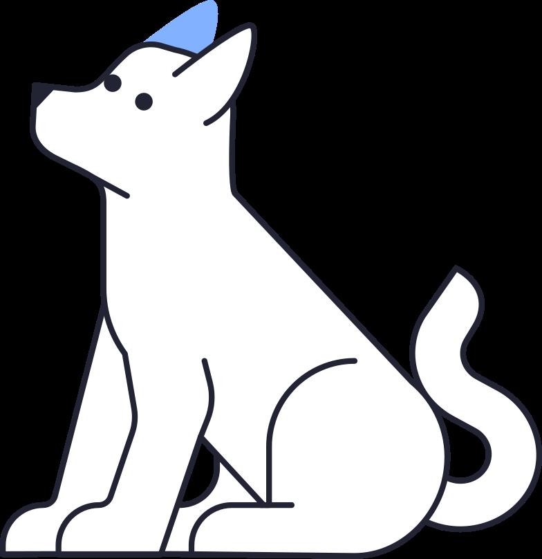 growing up  dog Clipart illustration in PNG, SVG