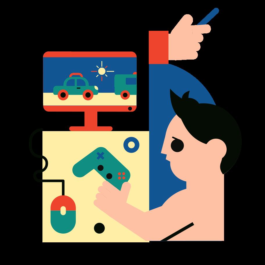 Computer games Clipart illustration in PNG, SVG