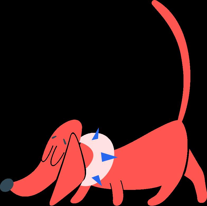 Ilustración de clipart de Perro en ropa en PNG, SVG