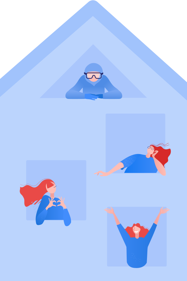 Isolation House Clipart illustration in PNG, SVG