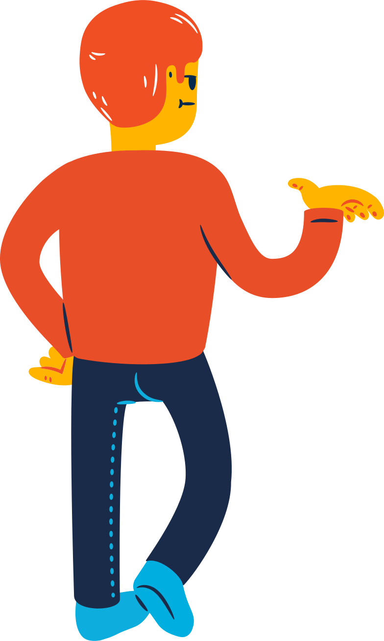 men from behind Clipart illustration in PNG, SVG