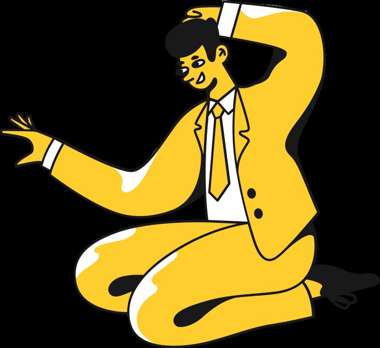 Иллюстрация человек в костюме сидит в стиле  в PNG и SVG | Icons8 Иллюстрации