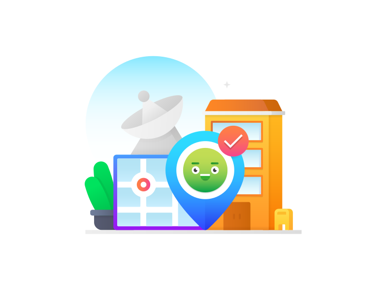 Location access Clipart illustration in PNG, SVG
