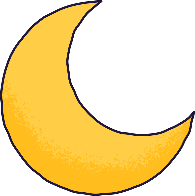 crescent moon Clipart illustration in PNG, SVG