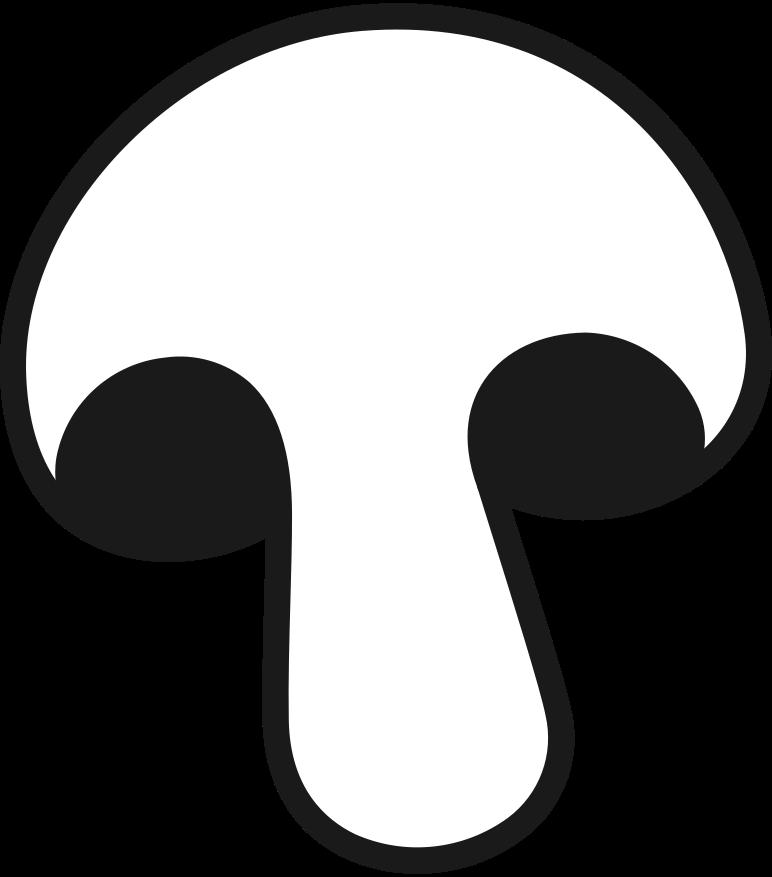 half champignon Clipart illustration in PNG, SVG
